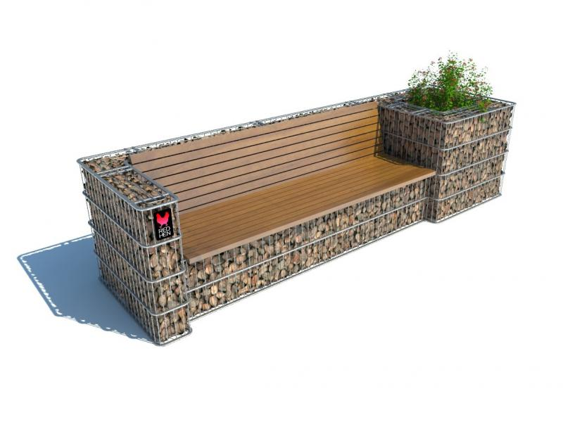 redhen store sitzbank sofa mit einem blumenbeet. Black Bedroom Furniture Sets. Home Design Ideas