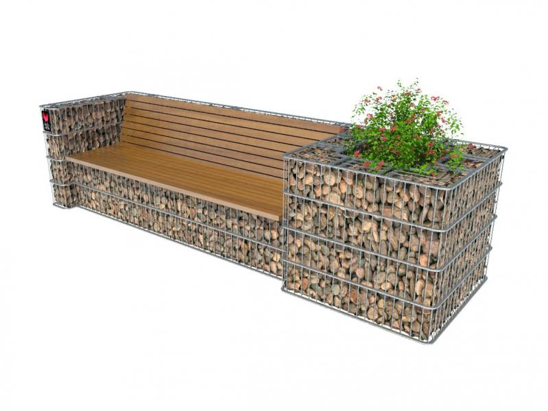 Redhen Store Sofa Bench With A Flowerbed